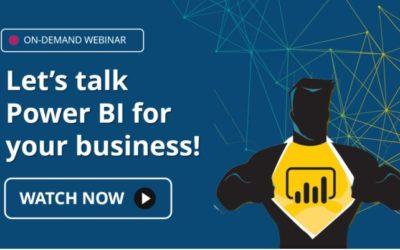 Webinar: Let's Talk Power BI for Your Business