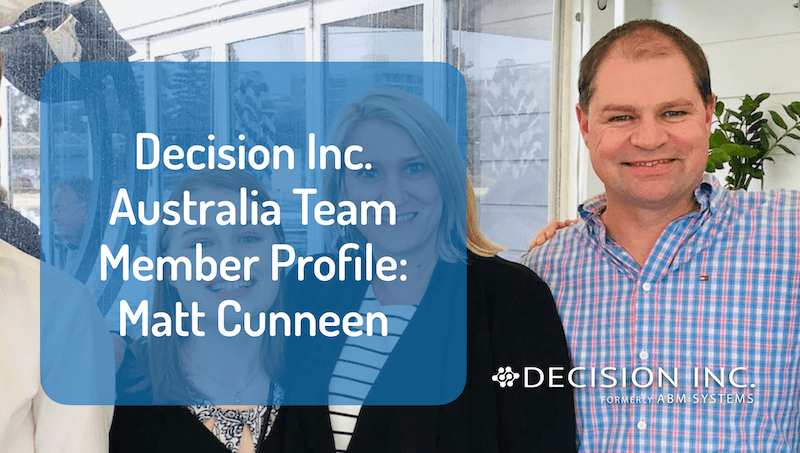 Decision Inc. Australia Team Member Profile: Matt Cunneen