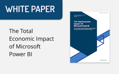 The Total Economic Impact of Microsoft Power BI