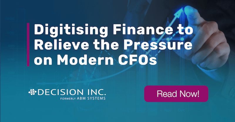 Digitising Finance to Relieve the Pressure on Modern CFOs