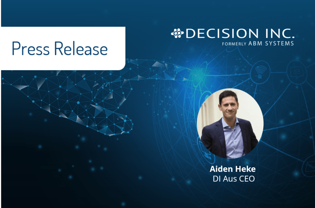New Chief Executive Officer takes the helm at Decision Inc. Australia