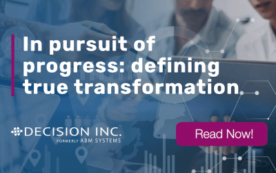 In pursuit of progress: defining true transformation