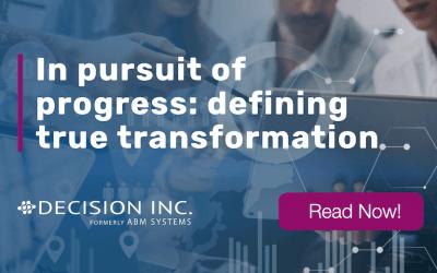In pursuit of progress: defining true transformation