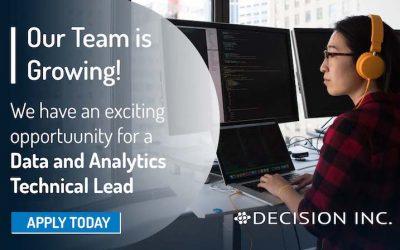 Job Alert: Data and Analytics Technical Lead