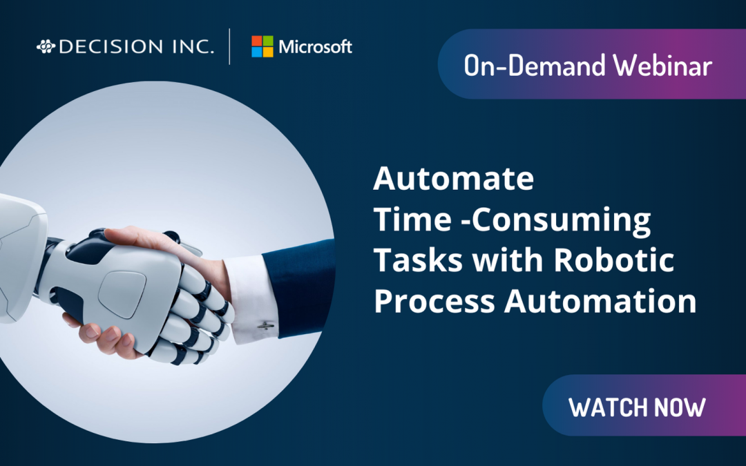Automate time-consuming tasks with Robotic Process Automation