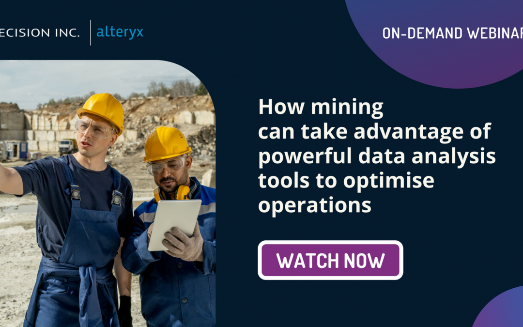How Mining can take advantage of powerful data analysis tools and techniques to optimise operations
